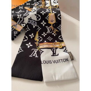 ディオール(Dior)のシルクタッチ スカーフ ブラック(バンダナ/スカーフ)