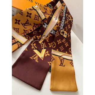ディオール(Dior)のシルクタッチ スカーフ ブラウン(バンダナ/スカーフ)