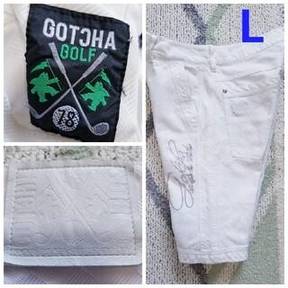 GOTCHA - ガッチャゴルフメンズホワイトデニムハーフパンツ