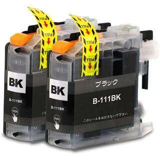 ブラザー用B-111BK 3本セット 互換インクカートリッジ ICチップ付き(PC周辺機器)
