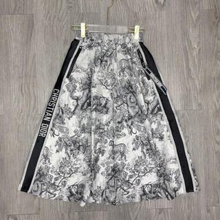 クリスチャンディオール(Christian Dior)のDIOR ロングスカート 黒 白 シンプルなトップスに(ひざ丈ワンピース)