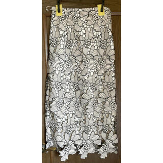 マイストラーダ(Mystrada)のマイストラーダ 配色レースタイトスカート(ひざ丈スカート)
