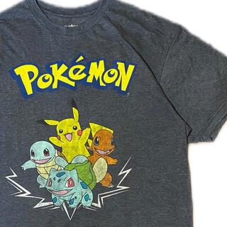 ポケモン(ポケモン)の90's Pokémon ポケモン Tシャツ ピカチュウ 御三家 初期(Tシャツ/カットソー(半袖/袖なし))