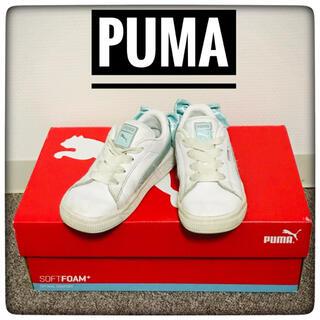 プーマ(PUMA)の【USED】PUMA(プーマ)★リボン付き★16.0cmスニーカー★白★(スニーカー)