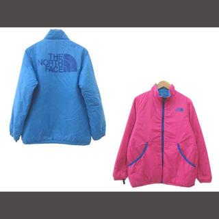 ザノースフェイス(THE NORTH FACE)のザノースフェイス 子供服 中綿 ジャケット リバーシブル 150 ブルー ピンク(ジャケット/上着)