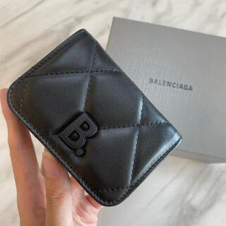 Balenciaga - 残り1【新品】BALENCIAGA キルティング Bロゴ 三つ折り財布 ミニ財布