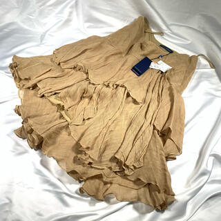 ラルフローレン(Ralph Lauren)の新品未使用 ラルフローレン フレア バルーン 麻 リネン 変形 大きいサイズ(ひざ丈スカート)
