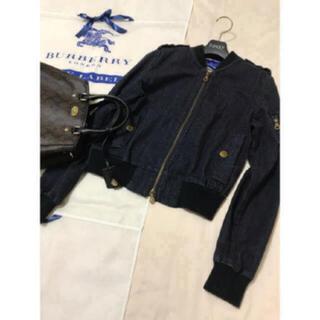 バーバリーブルーレーベル(BURBERRY BLUE LABEL)の美品 バーバリー ブルーレーベル  デニム ブルゾン MA-1 ジャケット(Gジャン/デニムジャケット)