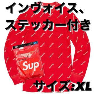 Supreme - Supreme / Hanes Thermal Crew サイズXL