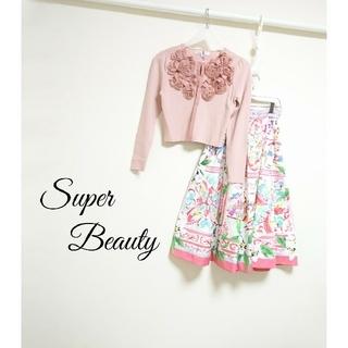 M'S GRACY - Super Beauty 立体フラワー カーディガン 薔薇