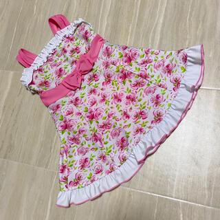 西松屋 キッズ 水着 ワンピース バラ 薔薇 100 90