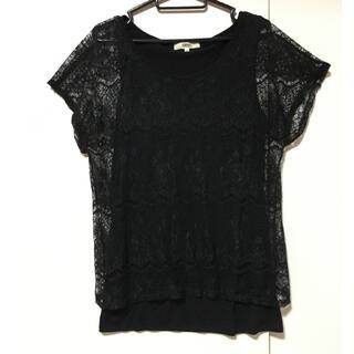 オゾック(OZOC)のレースドッキングシャツ 38(シャツ/ブラウス(長袖/七分))