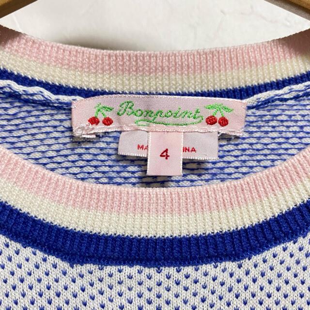 Bonpoint(ボンポワン)のボンポワン トップス 4a 100 半袖ニット キッズ/ベビー/マタニティのキッズ服女の子用(90cm~)(Tシャツ/カットソー)の商品写真