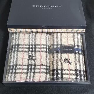 BURBERRY - BURBERRYフェイスタオル・ウォッシュタオル# ノバチェック2枚
