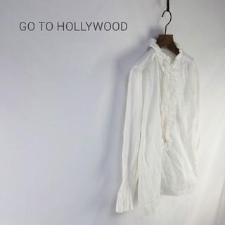 GO TO HOLLYWOOD - GO TO HOLLYWOOD ゴートゥーハリウッド サテン タック ブラウス