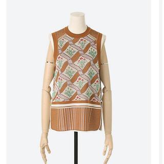 マメ(mame)のMame Floral Checquered Knitted Vest(ベスト/ジレ)
