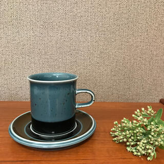 アラビア(ARABIA)のアラビアARABIA メリ コーヒーカップ&ソーサー 北欧ヴィンテージ(食器)