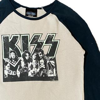 フィアオブゴッド(FEAR OF GOD)の90's KISS キス キッス Tシャツ ラグランT ロンT(Tシャツ/カットソー(七分/長袖))