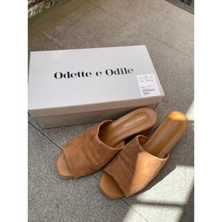 Odette e Odile - オデット エ オディール ユナイテッドアローズ プレーンミュールサンダル 37