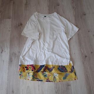 チャイハネ(チャイハネ)のチャイハネ チュニックTシャツ メンズ レイヤードロング丈Tシャツ(Tシャツ/カットソー(半袖/袖なし))