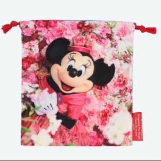 ディズニー(Disney)のディズニー ミニー 巾着(キャラクターグッズ)