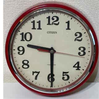 シチズン(CITIZEN)のCITIZEN 壁掛け時計 赤 (掛時計/柱時計)