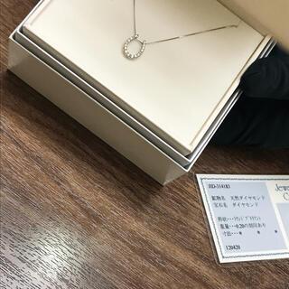 【プラチナ900】天然ダイヤモンドネックレス♡新品未使用(ネックレス)
