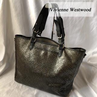 ヴィヴィアンウエストウッド(Vivienne Westwood)のヴィヴィアンウエストウッド トートバッグ アーサー柄 ブラウン レザー オーブ(トートバッグ)