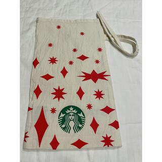 Starbucks Coffee - スターバックス オーガニックコットン巾着 スタバ クリスマス限定 ギフトバッグ