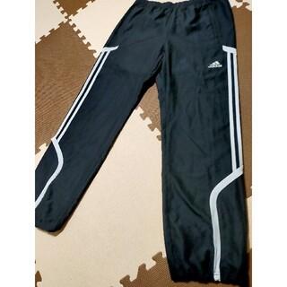 アディダス(adidas)の☆adidas アディダス イージーパンツ黒&灰色線 サイズL ●AEP-001(その他)
