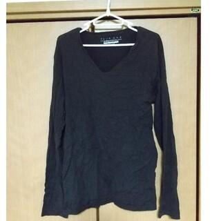 vネック ロングシャツ(Tシャツ/カットソー(七分/長袖))