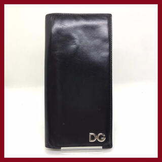 ドルチェアンドガッバーナ(DOLCE&GABBANA)のDOLCE&GABBANA ドルチェ&ガッバーナ 長財布 ブラック メンズ(長財布)