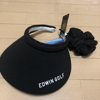 エドウィン(EDWIN)のEDWIN サンバイザー シュシュ付き♪ ゴルフ 散歩(その他)
