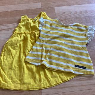 ブリーズ(BREEZE)のブリーズ スカート&半袖シャツ 2点セット 90サイズ(スカート)