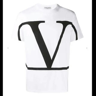 ヴァレンティノ(VALENTINO)のVALENTINO/ヴァレンティノVロゴプリントTシャツ(Tシャツ(半袖/袖なし))