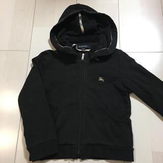 バーバリー(BURBERRY)のバーバリー 黒パーカー 100 子供服 羽織り ジャンパー(ジャケット/上着)