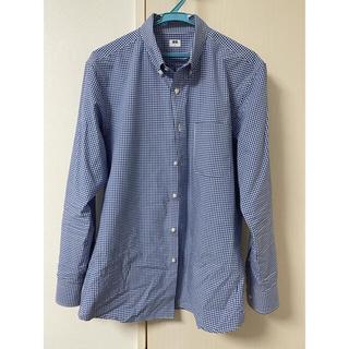 ユニクロ(UNIQLO)のユニクロ エクストラファインコットン ブロードチェックシャツ Lサイズ(シャツ)
