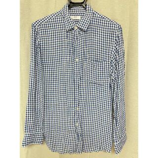 ユニクロ(UNIQLO)のUNIQLO ユニクロ リネン ギンガムチェックシャツ L(シャツ)