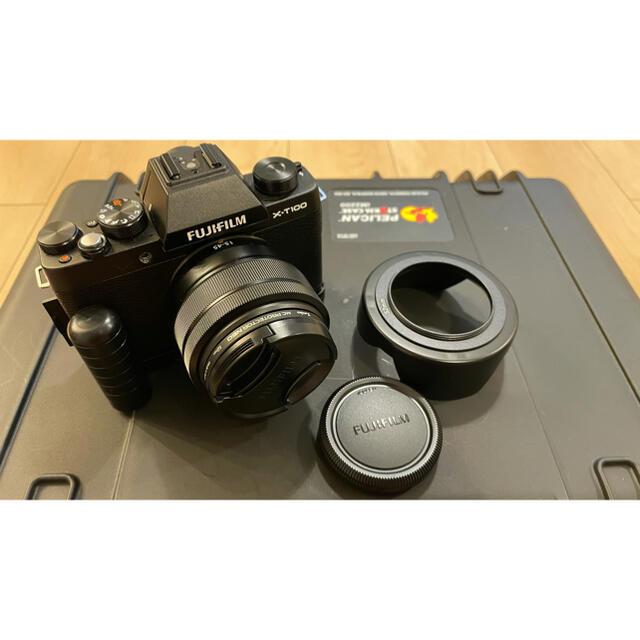 富士フイルム(フジフイルム)の最終価格❗️ FUJIFILM X-T100 富士フィルム XT100  スマホ/家電/カメラのカメラ(ミラーレス一眼)の商品写真