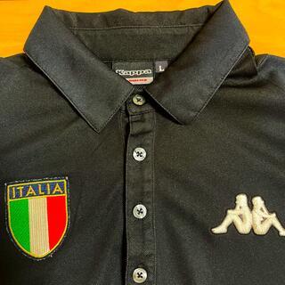 カッパ(Kappa)のkappa ゴルフウエア 半袖 シャツ 黒 メンズ Lサイズ(ウエア)