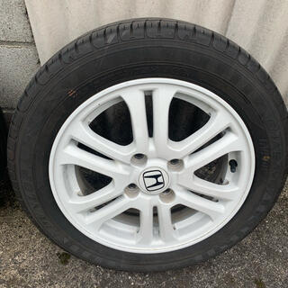ホンダ(ホンダ)のN-BOX 純正ホイール ホワイト タイヤセット1本(タイヤ・ホイールセット)