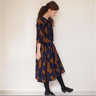 ミナペルホネン(mina perhonen)の【美品】mina perhonen slow dance ドレス ワンピース(ひざ丈ワンピース)