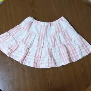 バーバリー(BURBERRY)のバーバリー チェック柄フリルスカート 110(スカート)