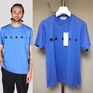 マルニ(Marni)の新品 46 20aw MARNI ロゴ Tシャツ ブルー 青 26(Tシャツ/カットソー(半袖/袖なし))