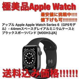 アップルウォッチ(Apple Watch)の美品 アップル Apple Watch Series 6(GPSモデル)44mm(スマートフォン本体)
