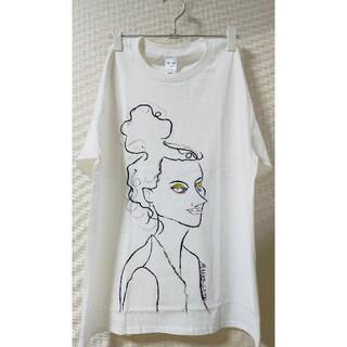 手描き 女の人 Tシャツ(Tシャツ(半袖/袖なし))