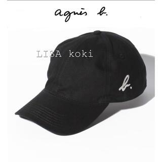 アニエスベー(agnes b.)のアニエスベー ロゴ キャップ b. 帽子 男女兼用 ブラック セール中❣️再入荷(キャップ)