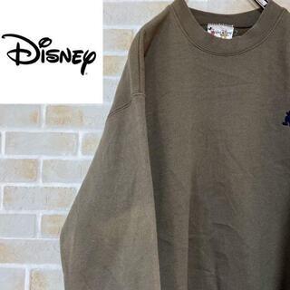 ディズニー(Disney)の●ディズニー●スウェット トレーナー ミッキーマウス ワンポイント刺繍ロゴ(スウェット)