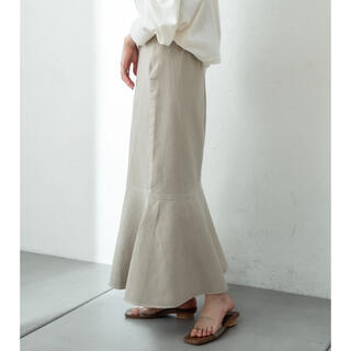 mystic ツイルマーメイドスカート ライトグレー
