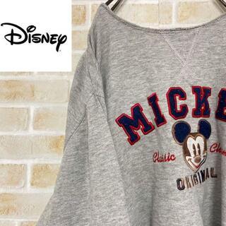 ディズニー(Disney)の●ディズニー●ミッキーマウススウェット 切りっぱなし ビッグロゴ トレーナー(スウェット)